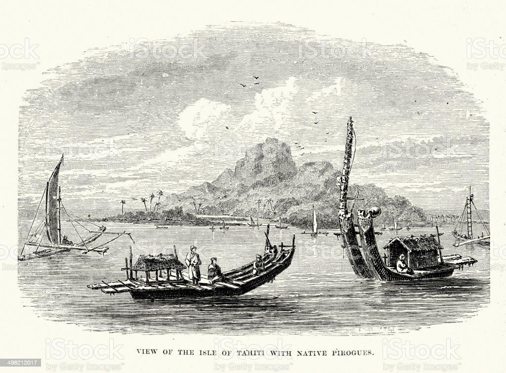 Tahiti royalty-free tahiti stock vector art & more images of 19th century