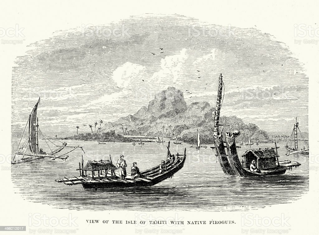 Tahiti vector art illustration