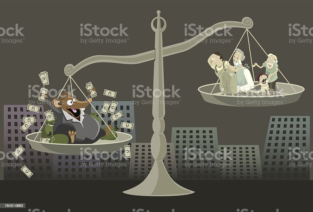 Tainted Justice vector art illustration