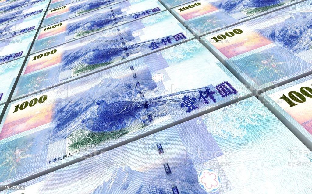 Taiwanese yuan bills vector art illustration