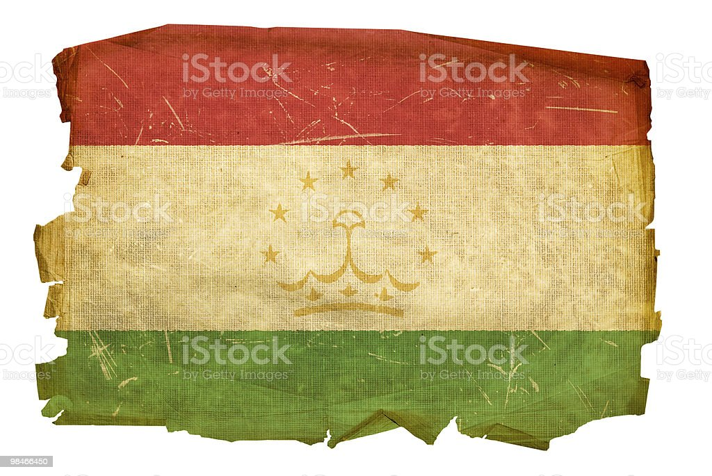 Tajikistan Flag old, isolated on white background. royalty-free tajikistan flag old isolated on white background stock vector art & more images of aging process