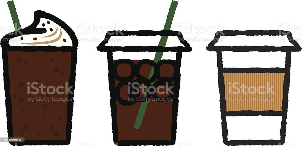Take-out Coffees royalty-free stock vector art