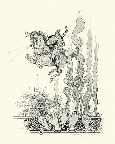 Tales of Orient, Flying on the Enchanted Horse, Eastern mythology