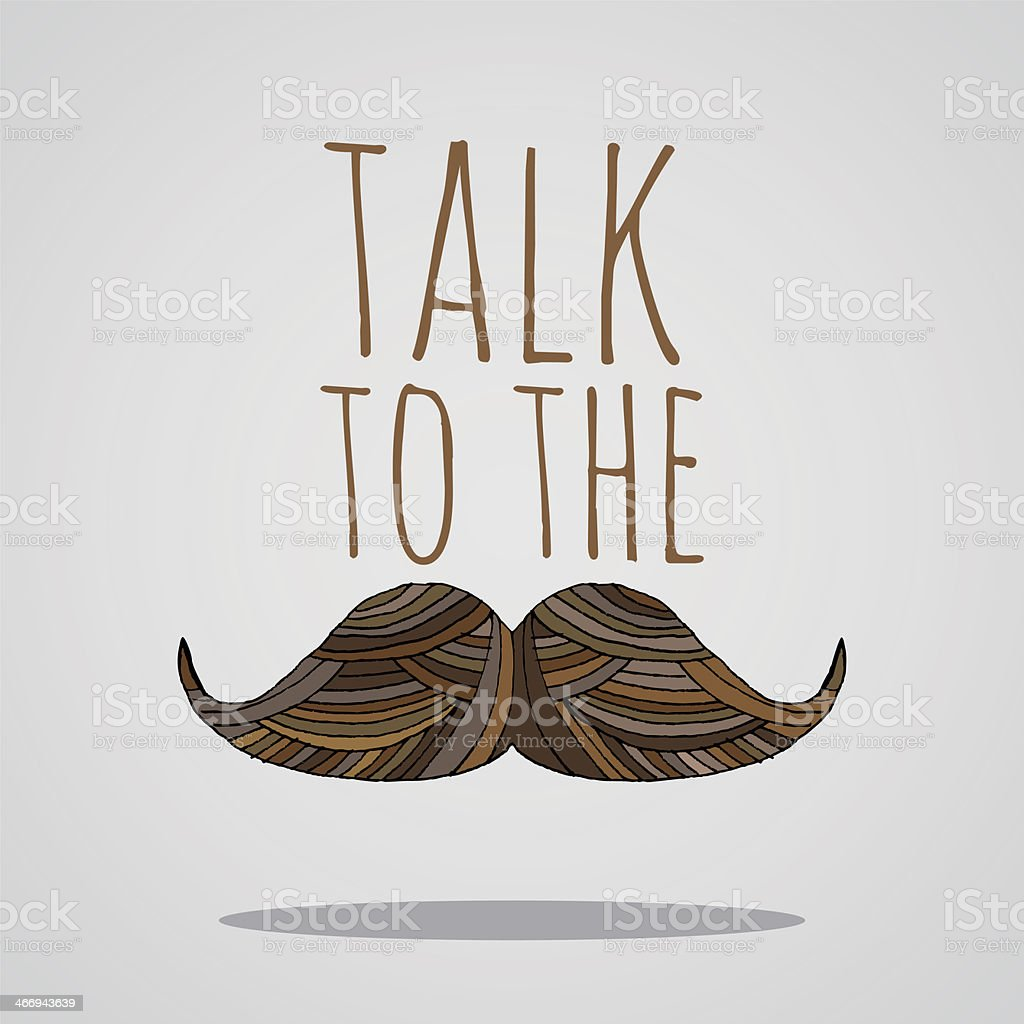 Talk to the tache royalty-free talk to the tache stock vector art & more images of brown