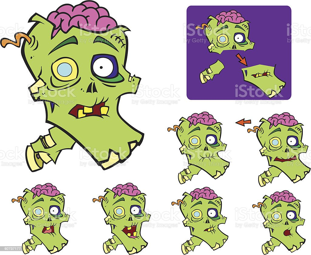 Talking Zombie Head royalty-free talking zombie head stock vector art & more images of color image