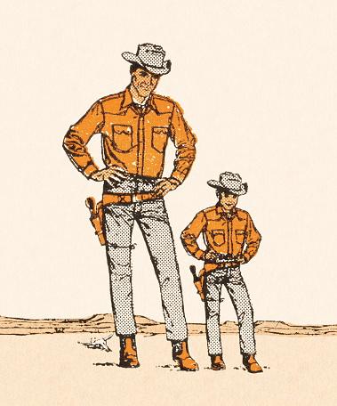 Tall and Short Cowboys