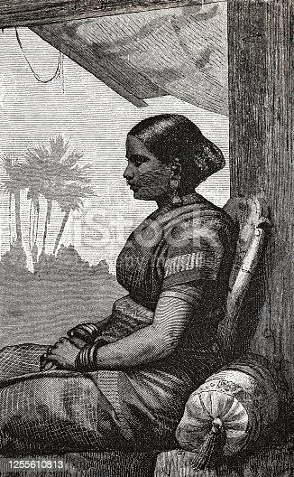 istock Tamil woman 1255610813