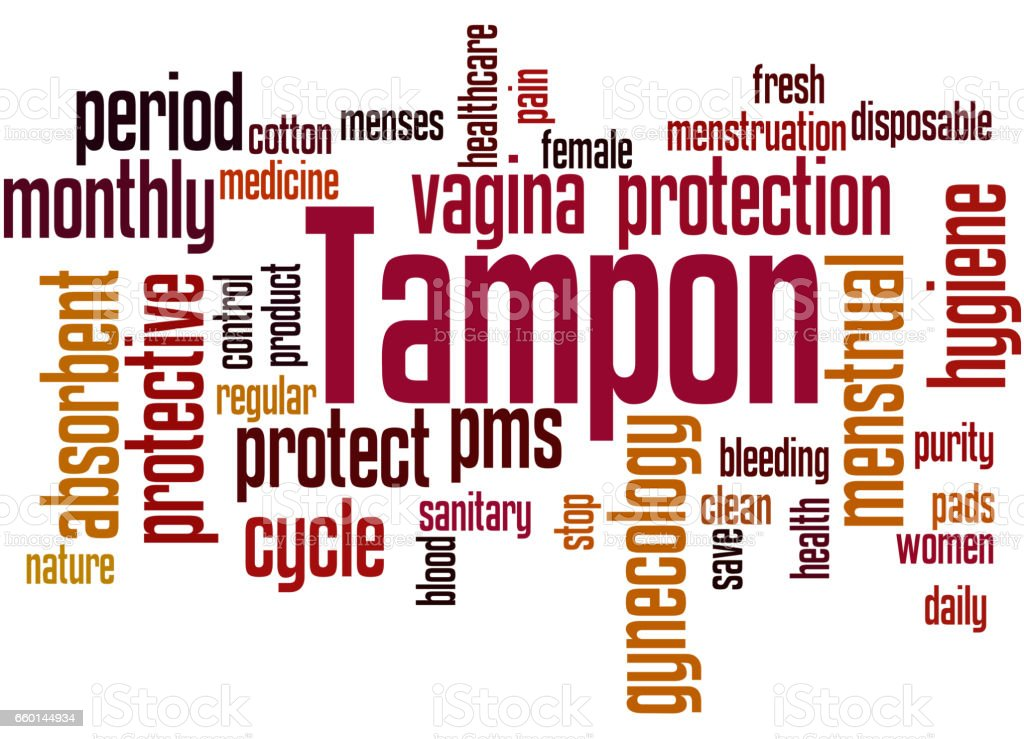 Tampon, word cloud concept 9 vector art illustration