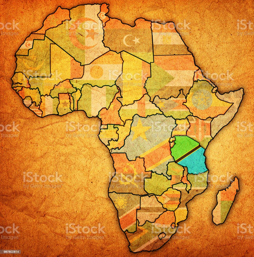 Picture of: Tanzania On Political Map Of Africa Stock Illustration Download Image Now Istock