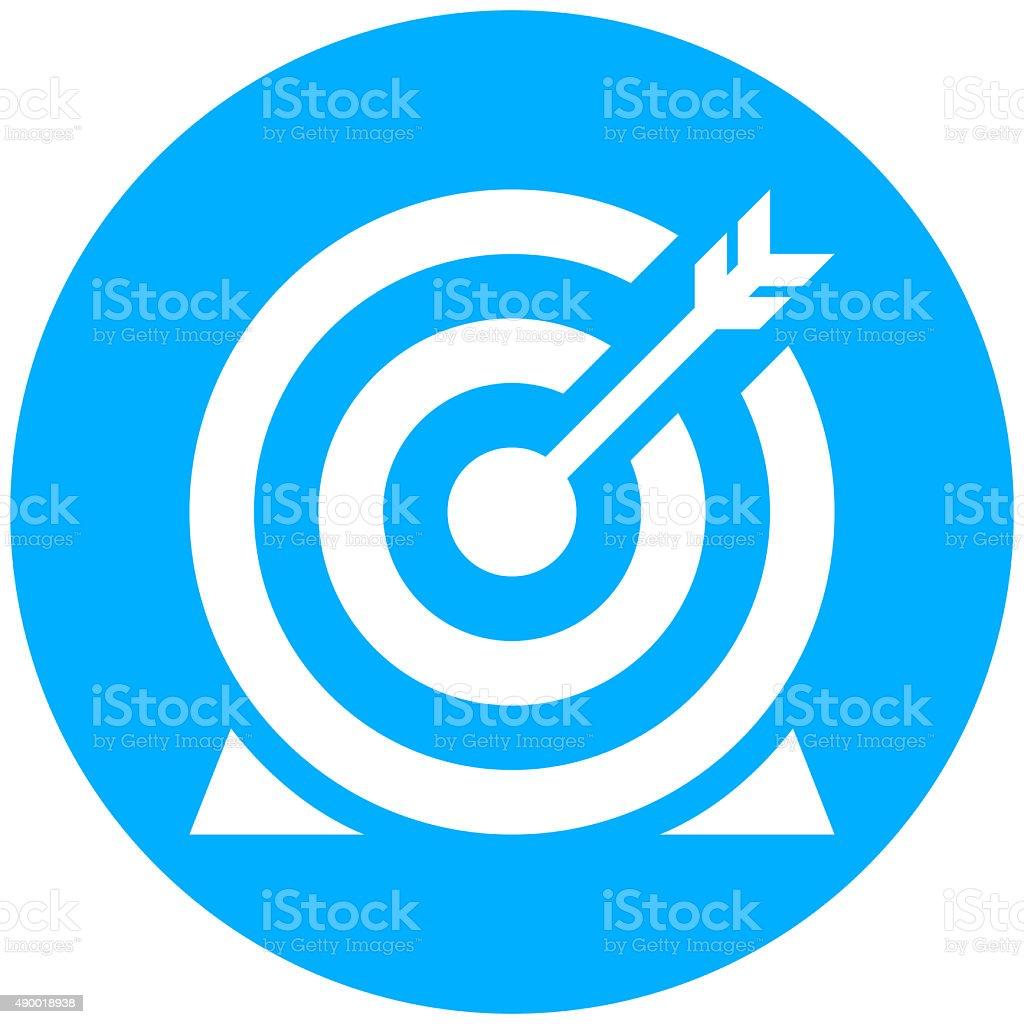 Target icon on a round button. - Round Series vector art illustration