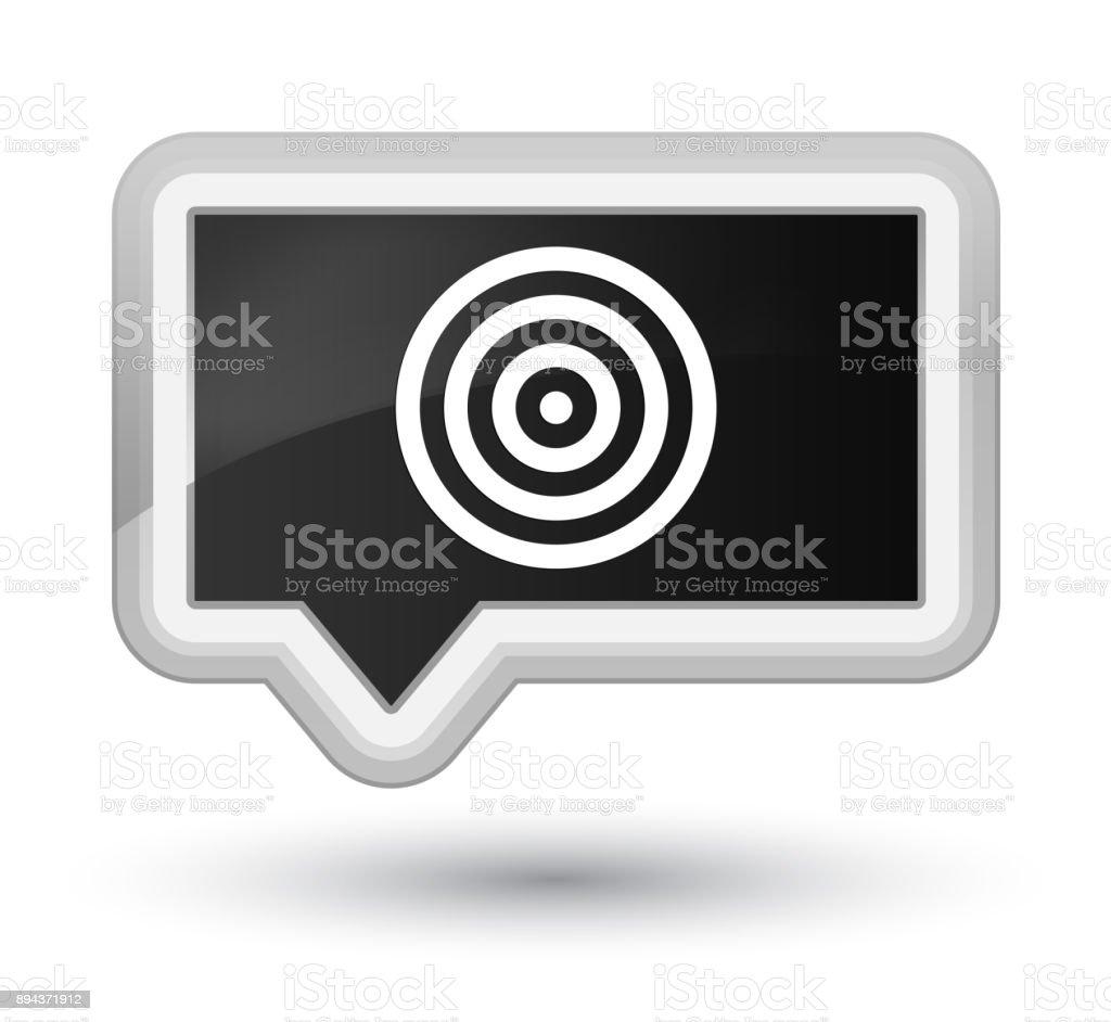 Target icon prime black banner button vector art illustration
