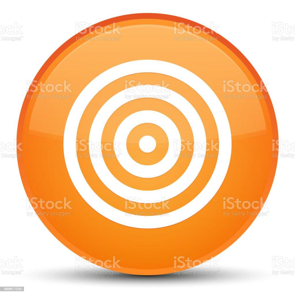 Target icon special orange round button vector art illustration