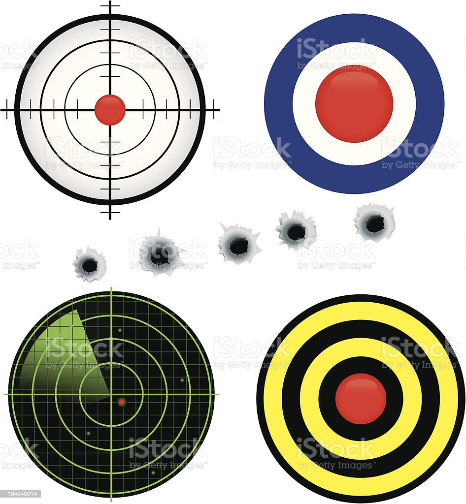 Target Icons royalty-free stock vector art