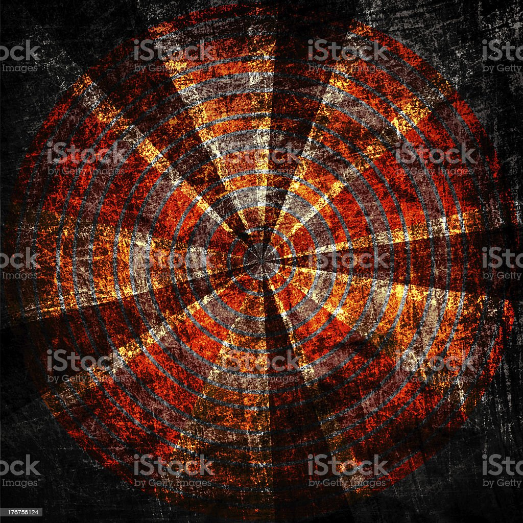 target on grunge fabric canvas texture royalty-free stock vector art