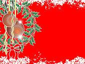 tarjeta roja de navidad