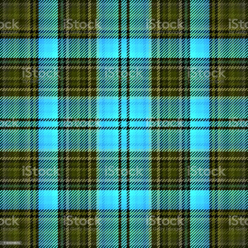 Tartan Fabric Plaid Background Seamless Celtic Irish Stock
