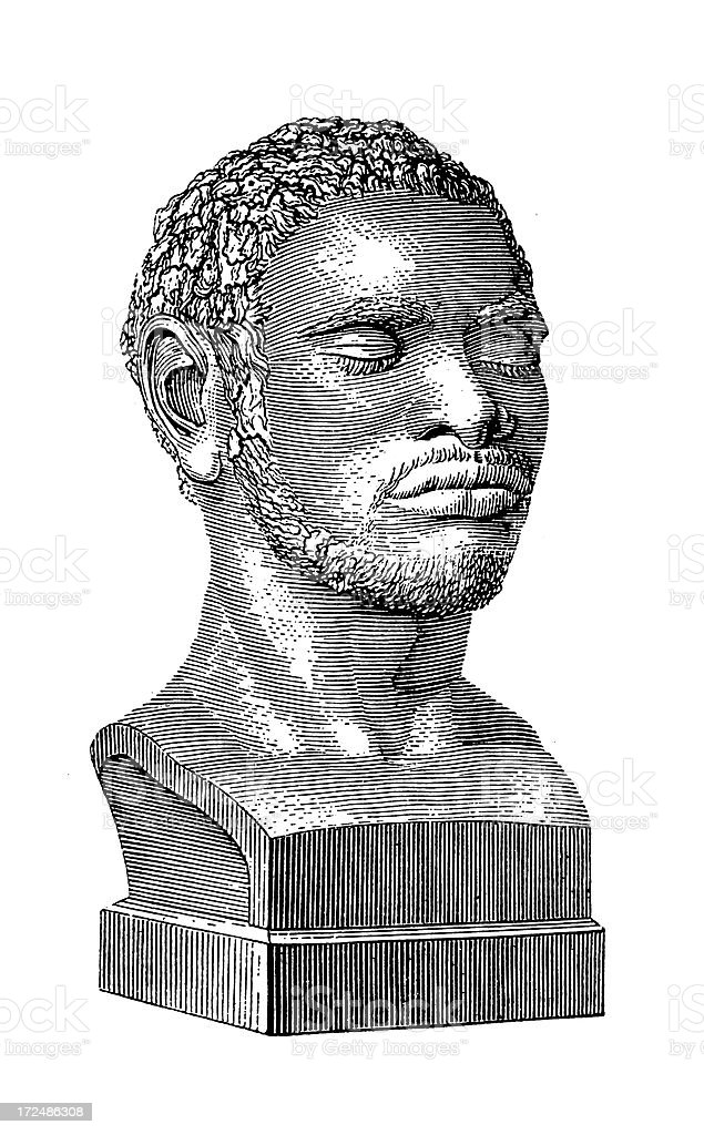 Tasmanian Aborigine (antique wood engraving) royalty-free tasmanian aborigine stock vector art & more images of 19th century