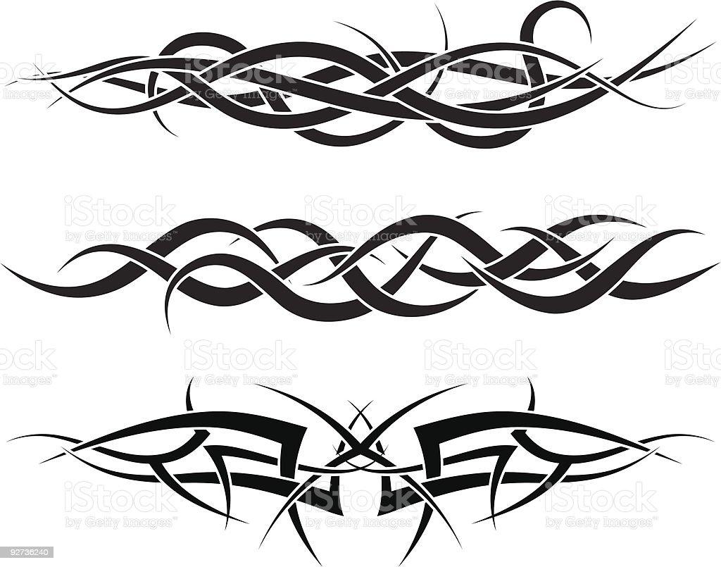 tattoos set vector art illustration