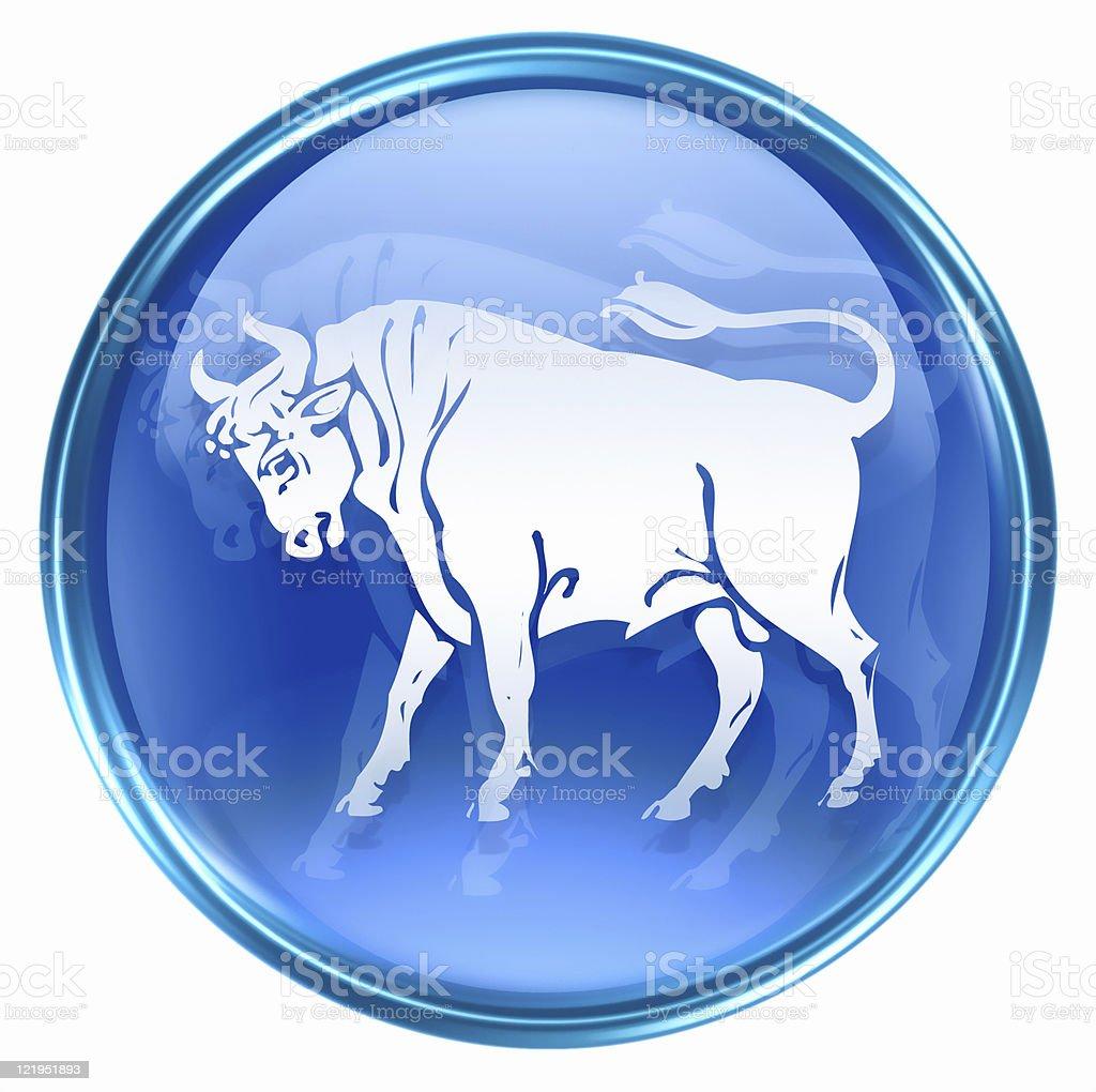 Taurus zodiac icon, isolated on white background. royalty-free stock vector art