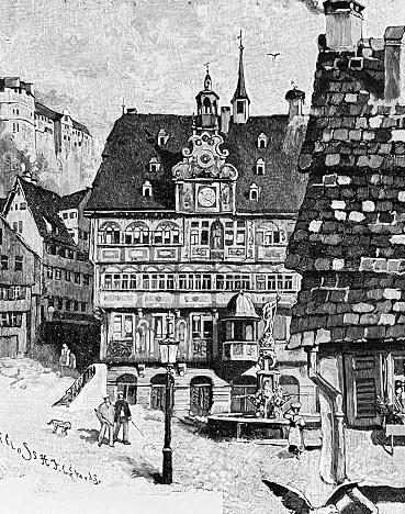 Tübingen town halll, market square