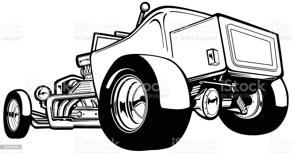 T-Bucket Hot Rod royalty-free tbucket hot rod stock vector art & more images of amusement park ride