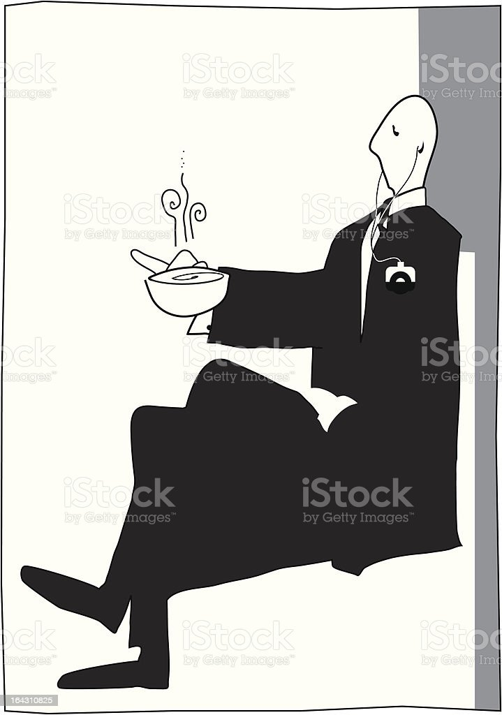 Tea and tunes royalty-free stock vector art