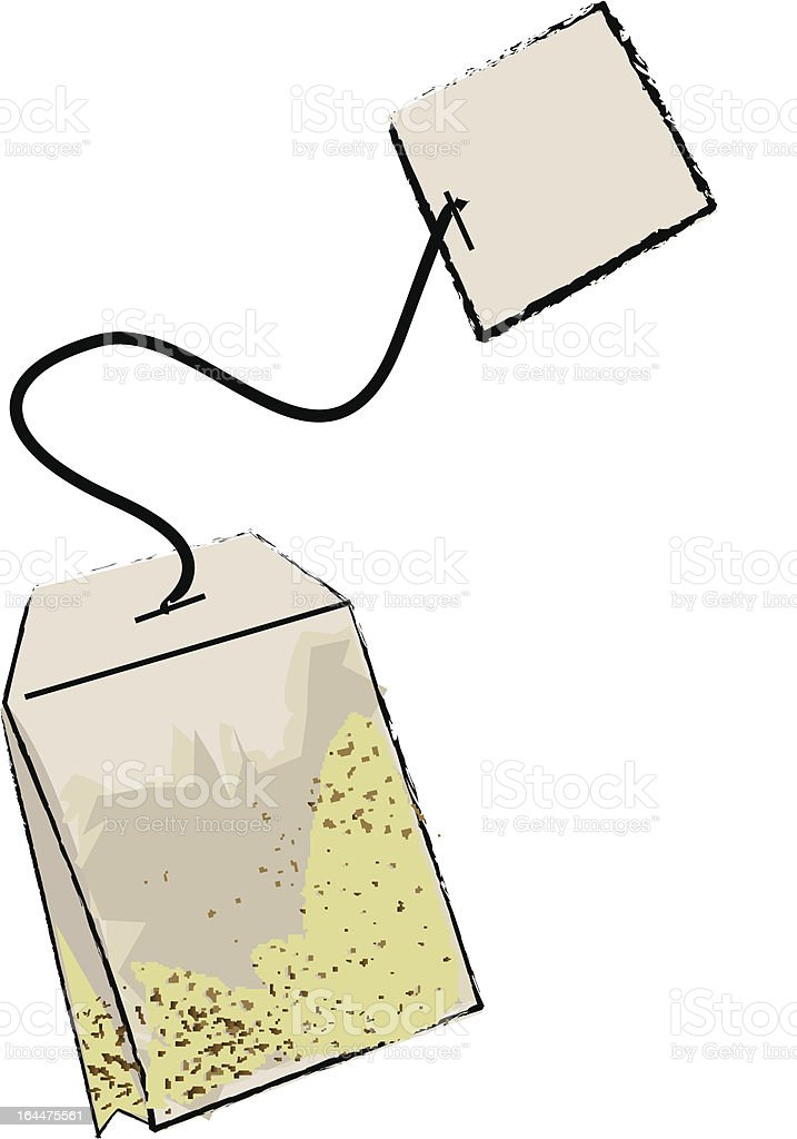 Tea Bag royalty-free stock vector art