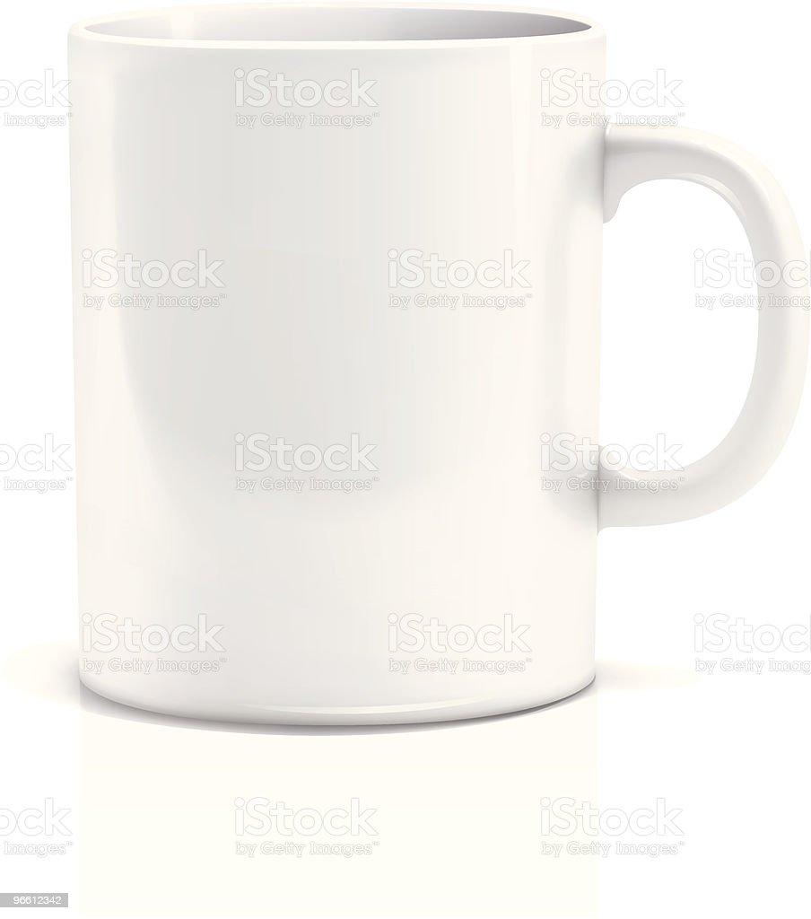 Tea cup vector art illustration