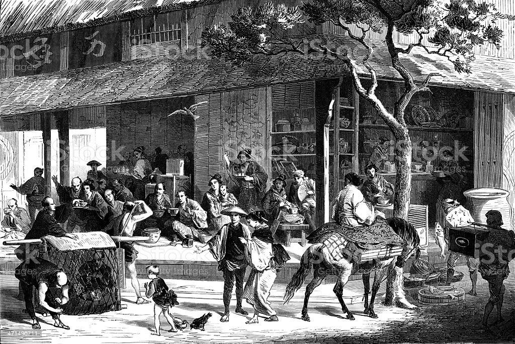 tea house royalty-free stock vector art