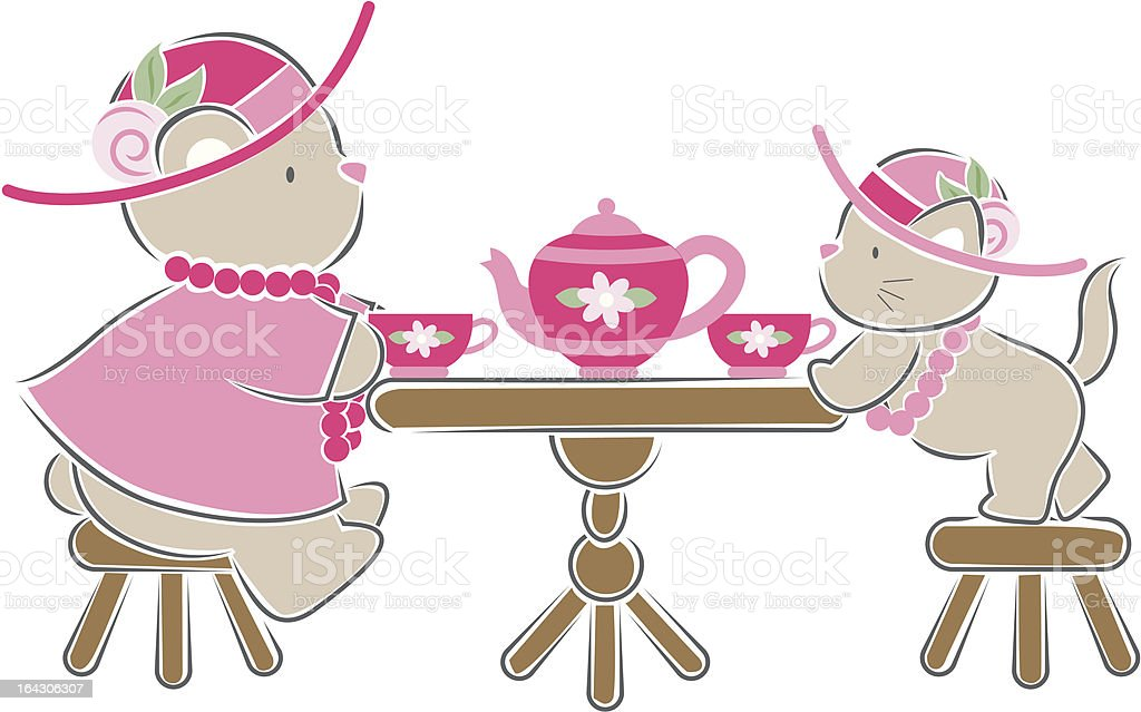 tea party royalty-free tea party stock vector art & more images of animal