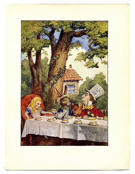 алиса в стране чудес викторианская эпоха открытки стильная кухня контрастными