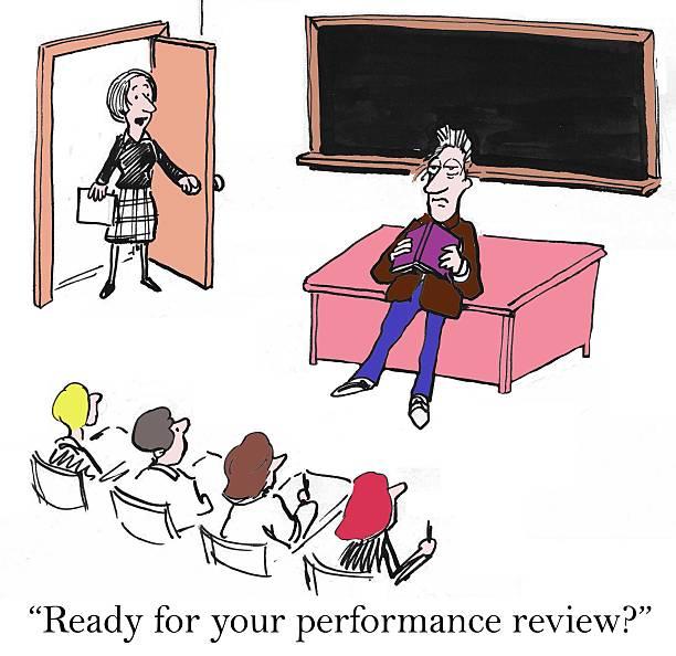 ilustrações, clipart, desenhos animados e ícones de professor de análise de desempenho - orientador escolar