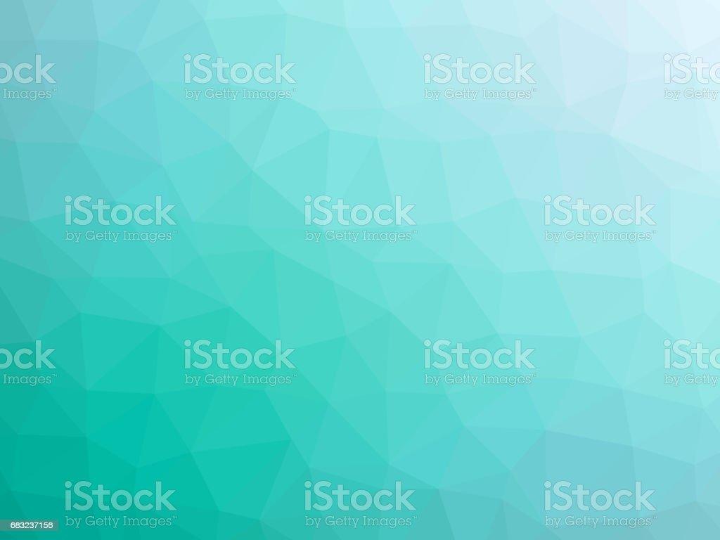 Teal polygon shaped background - ilustração de arte em vetor