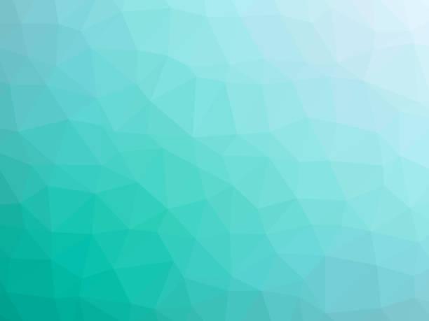 Fondo en forma de polígono de Teal - ilustración de arte vectorial