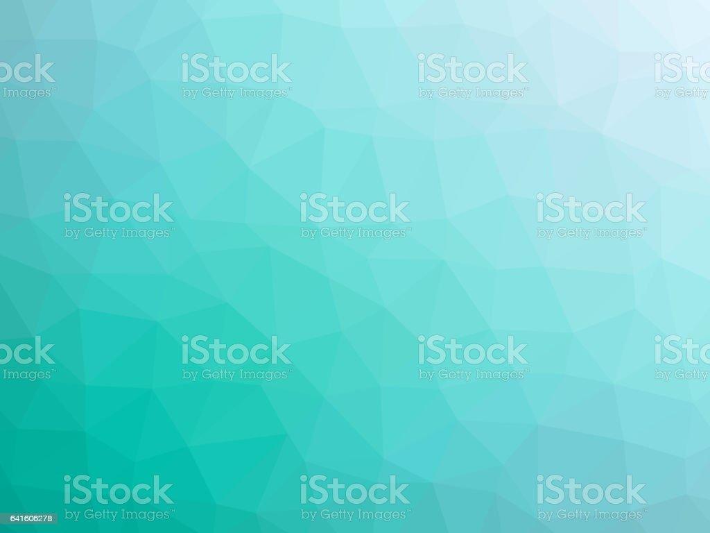Teal polygonal background vector art illustration