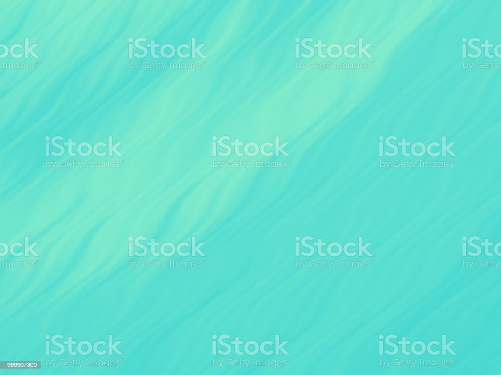 Teal Sea Waves Abstract Pastel Ombre Mint Green Background Wavy Pattern vector art illustration