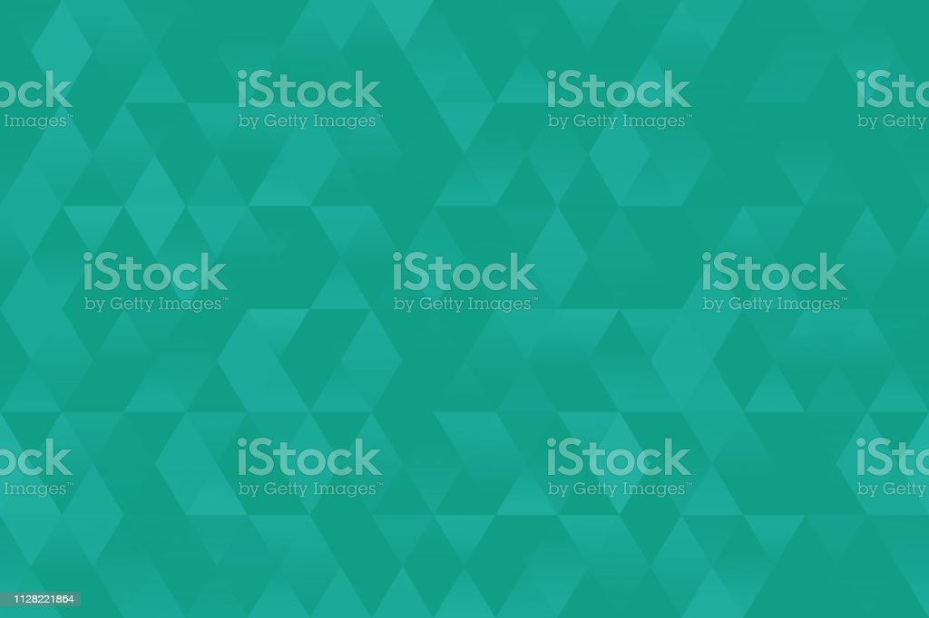 Teal Triangle Seamless Pattern Pretty Rhomb Mint Green Blue Texture Party Invitaion Background Geometric Minimalism vector art illustration