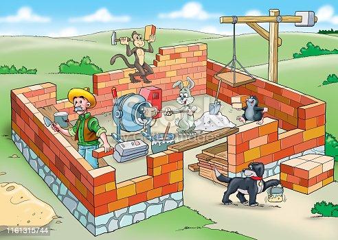 Team Builder Construction. Building a house