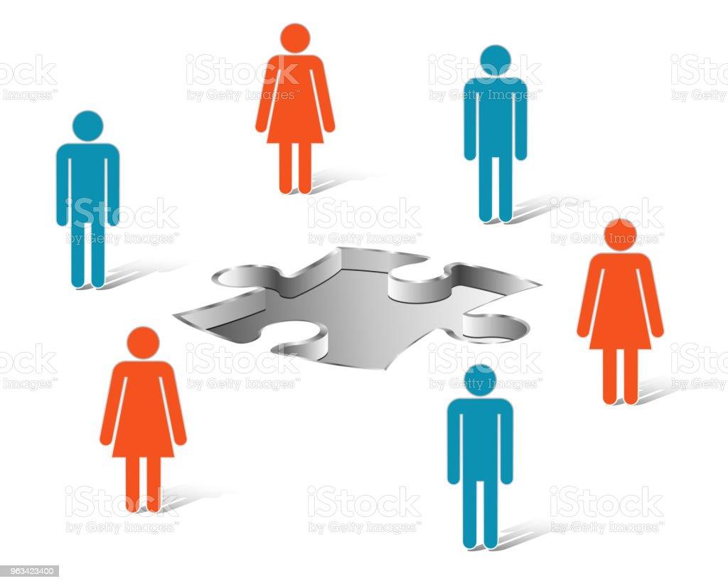 Praca zespołowa Projektowanie graficzne - Zbiór ilustracji royalty-free (Abstrakcja)