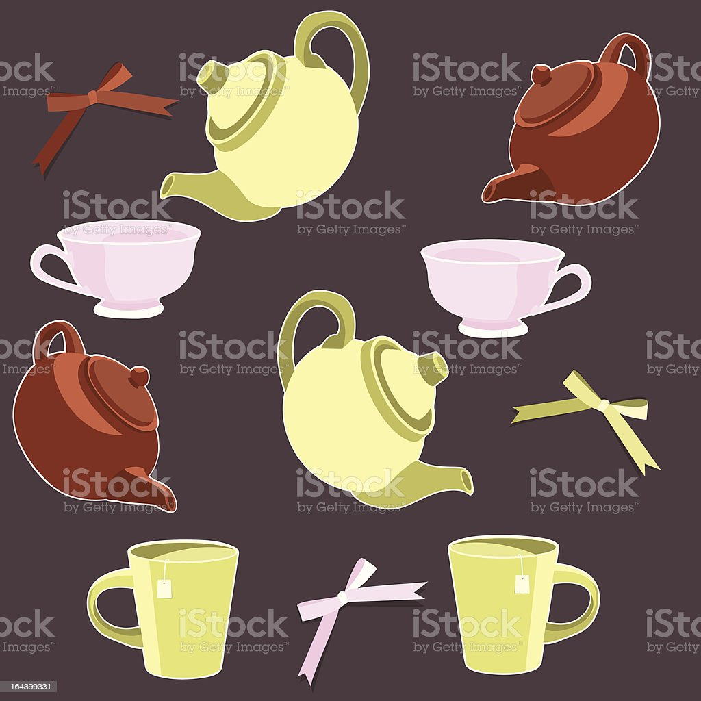 Teapots and cups royalty-free teapots and cups stock vector art & more images of art