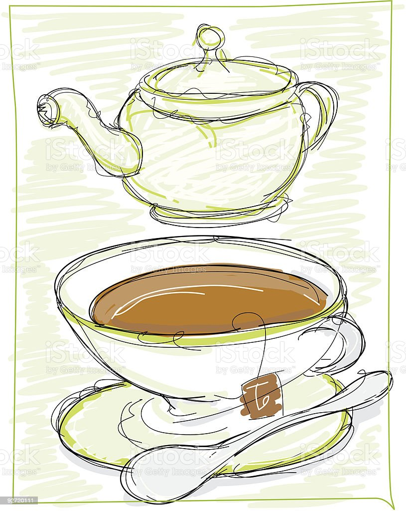 Teatime royalty-free teatime stock vector art & more images of color image