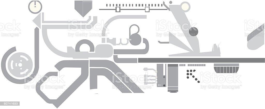 Techno element (Vector) royalty-free stock vector art