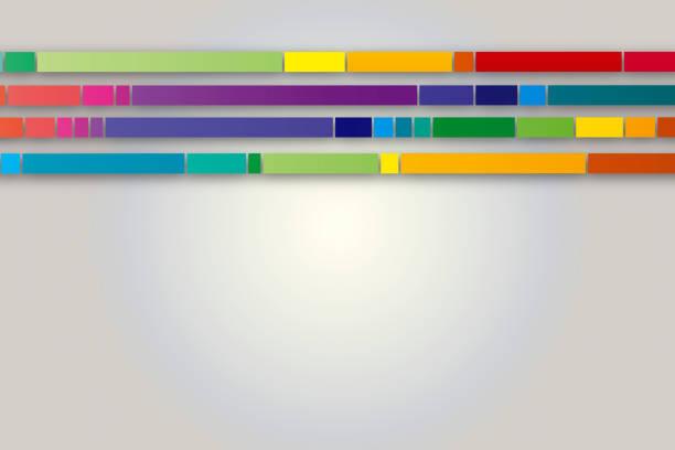 技術抽象與彩色線條向量藝術插圖