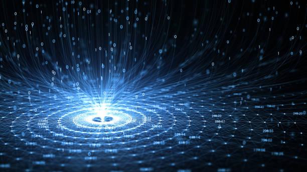 Technologie Künstliche Intelligenz (KI) und Internet der Dinge IOT Konzept. – Vektorgrafik