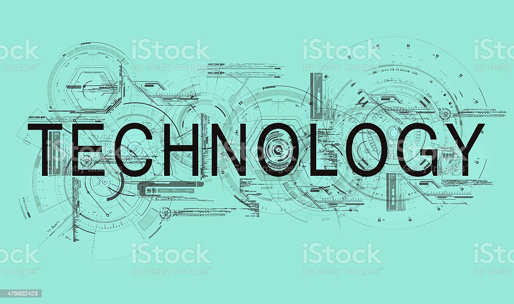 technology blue royalty-free stock vector art