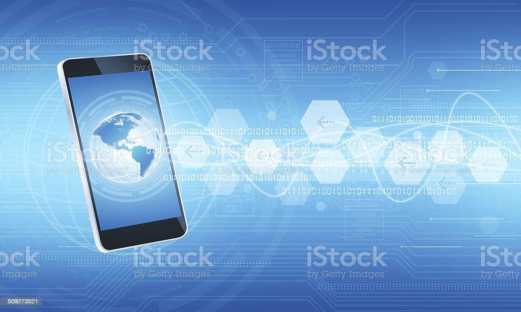 Technology communication internet connection background vector art illustration