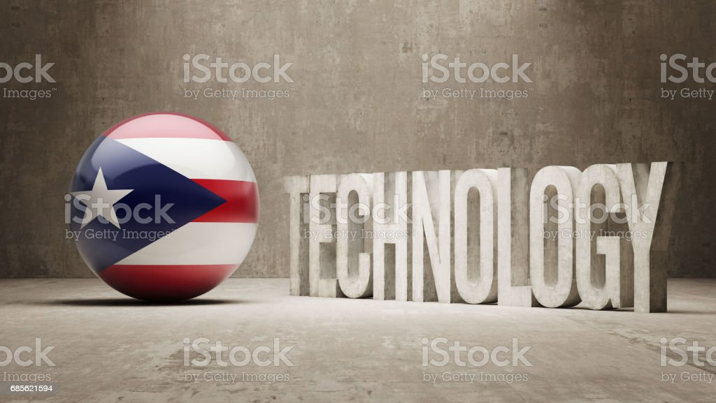 Technology Concept 免版稅 technology concept 向量插圖及更多 puerto rican flag 圖片