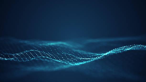 Technologie digitales Wellenhintergrundkonzept. – Vektorgrafik