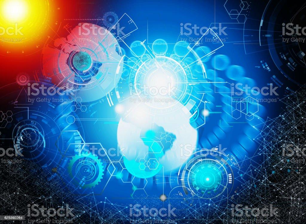 technologie pour les entreprises technologie pour les entreprises – cliparts vectoriels et plus d'images de abstrait libre de droits