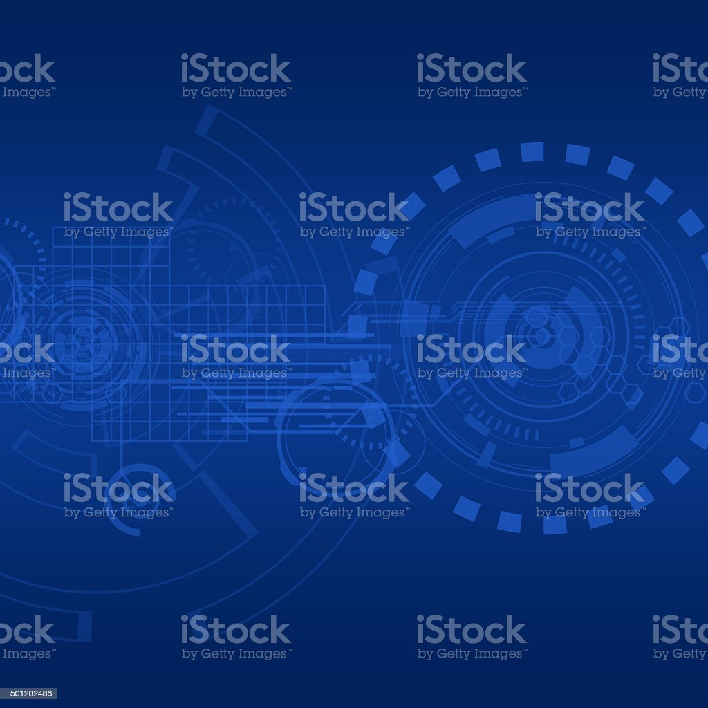 Technology vector art illustration